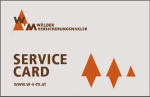 Service Card Vorderseite