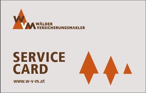 Die SERVICE CARD der Wälder Versicherungsmakler