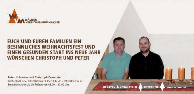 Weihnachtsgrüße von Christoph und Peter