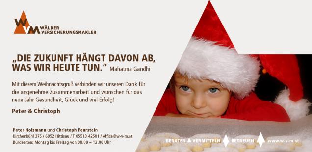 Wir wünschen besinnliche Weihnachtsfeiertage und einen gesunden Start ins neue Jahr 2015